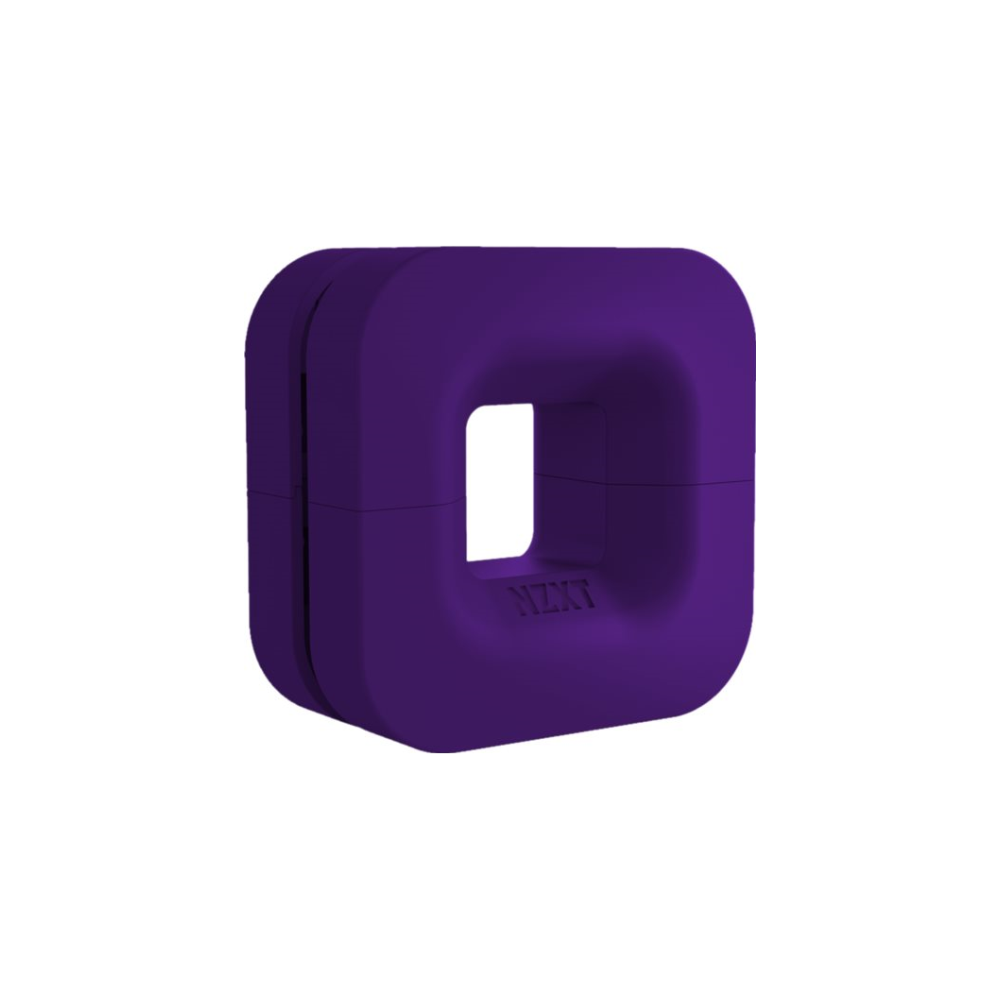 A large main feature product image of NZXT Puck Headset Hanger Purple