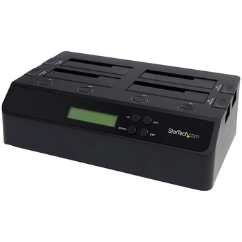 Product image of Startech 4 Bay USB 3.0 eSATA to SATA 1:3 Hard Drive Duplicator Dock - Click for product page of Startech 4 Bay USB 3.0 eSATA to SATA 1:3 Hard Drive Duplicator Dock