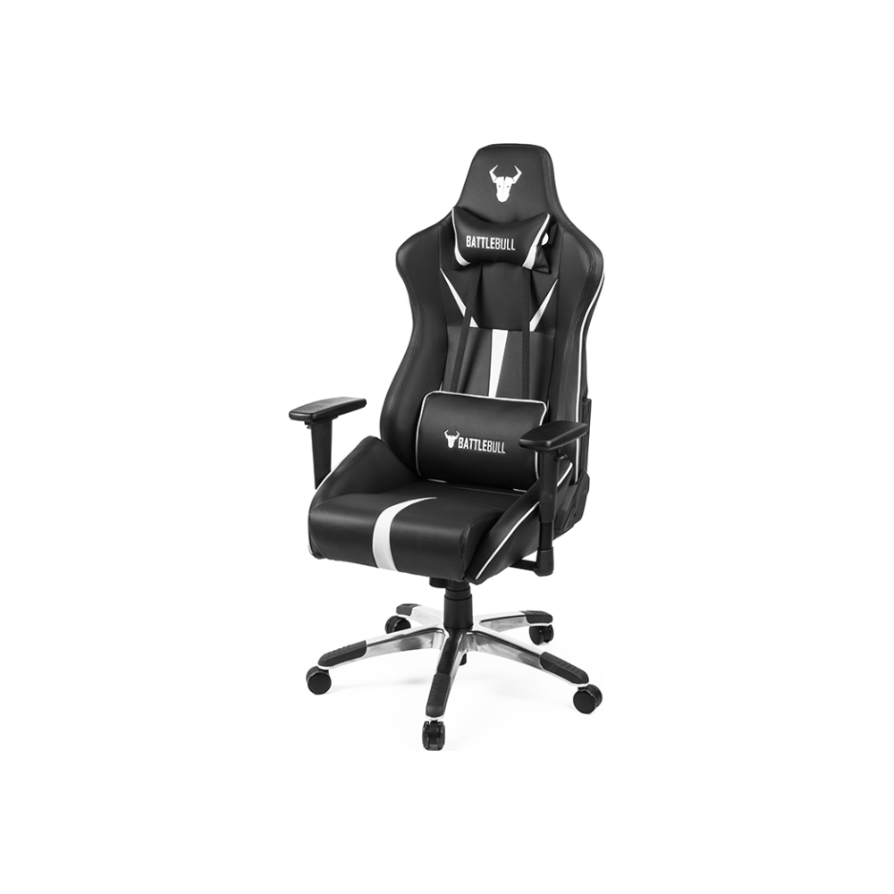 A large main feature product image of BattleBull Arrow Gaming Chair Black/White
