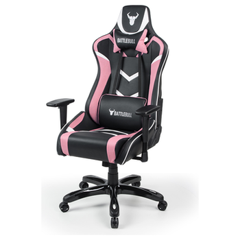 Product image of BattleBull Commander Gaming Chair Black/Pink/White - Click for product page of BattleBull Commander Gaming Chair Black/Pink/White