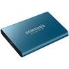 A product image of Samsung T5 500GB USB3.1 Blue Portable SSD