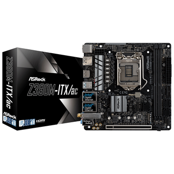 Product image of ASRock Z390M-ITX/AC LGA1151-CL mITX Desktop Motherboard - Click for product page of ASRock Z390M-ITX/AC LGA1151-CL mITX Desktop Motherboard