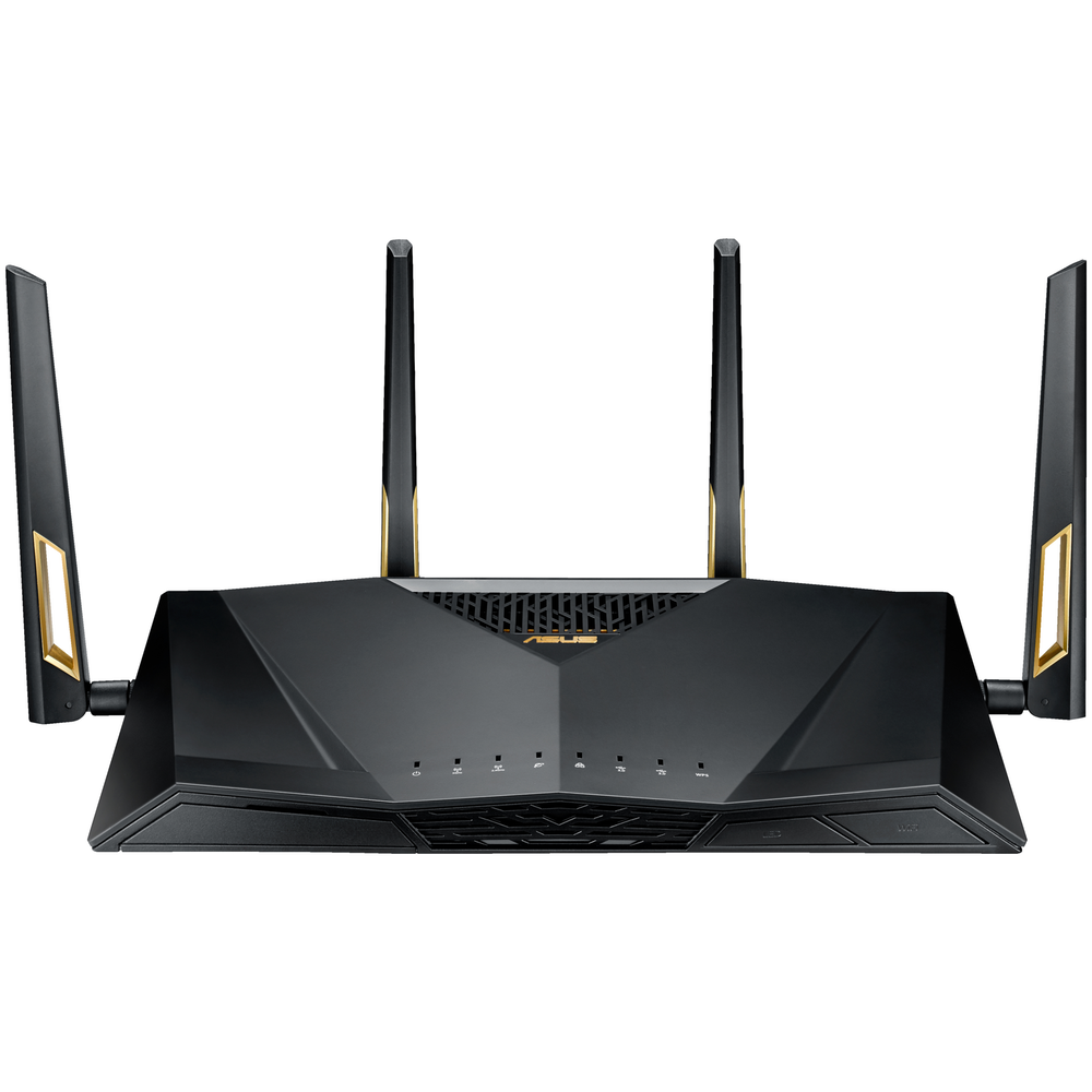 A large main feature product image of ASUS RT-AX88U 802.11ax Dual-Band AiMesh Wireless-AX6000 Gigabit Router