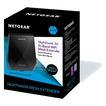 Product image of Netgear Nighthawk X6 AC2200 Tri-Band Wireless Mesh Extender  - Click for product page of Netgear Nighthawk X6 AC2200 Tri-Band Wireless Mesh Extender