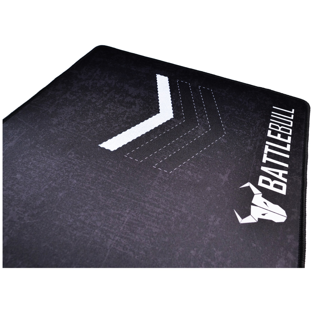 A large main feature product image of BattleBull Grazed Extended Mousemat - Black/White
