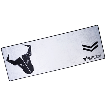 Product image of BattleBull Grazed Extended Mousemat - White/Black - Click for product page of BattleBull Grazed Extended Mousemat - White/Black