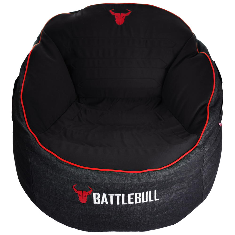A large main feature product image of BattleBull Bunker Black/Red Bean Bag