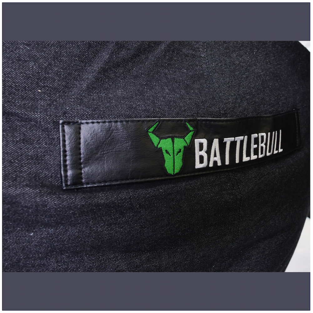 A large main feature product image of BattleBull Bunker Black/Green Bean Bag
