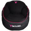 A product image of BattleBull Bunker Black/Pink Bean Bag