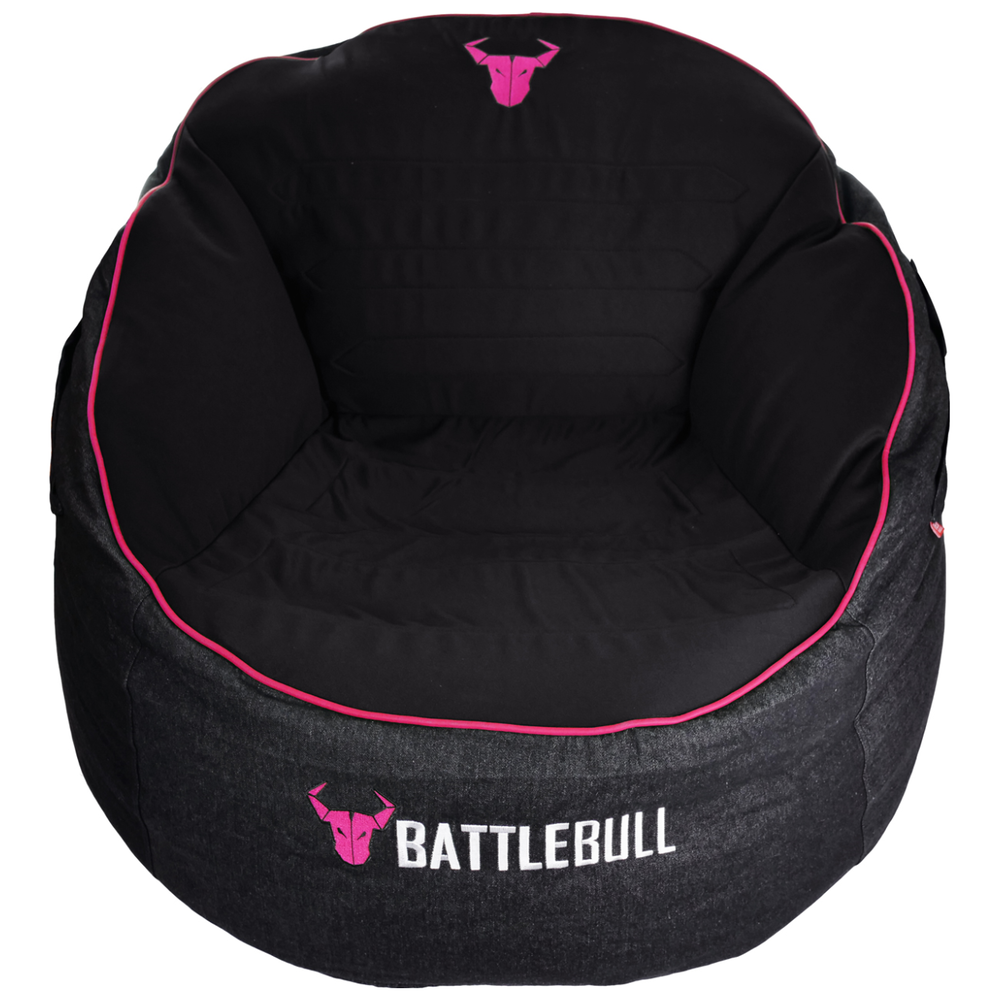 A large main feature product image of BattleBull Bunker Black/Pink Bean Bag