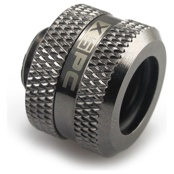 Product image of XSPC G1/4 14mm OD Black Chrome Triple-Seal PETG Fitting V2 - Click for product page of XSPC G1/4 14mm OD Black Chrome Triple-Seal PETG Fitting V2