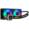 A product image of Corsair Hydro H100i RGB Platinum 240mm AIO Liquid CPU Cooler