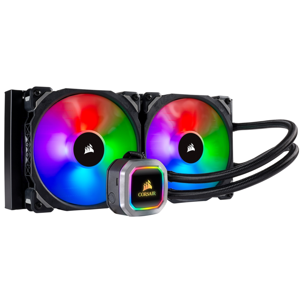 A large main feature product image of Corsair Hydro H115i RGB Platinum 280mm AIO Liquid CPU Cooler