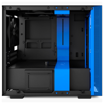Product image of NZXT H200i Matte Black/Blue mITX Gaming Case - Click for product page of NZXT H200i Matte Black/Blue mITX Gaming Case