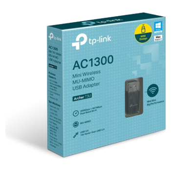 Product image of TP-LINK Archer T3U AC1300 Wireless Dual Band USB Adapter - Click for product page of TP-LINK Archer T3U AC1300 Wireless Dual Band USB Adapter