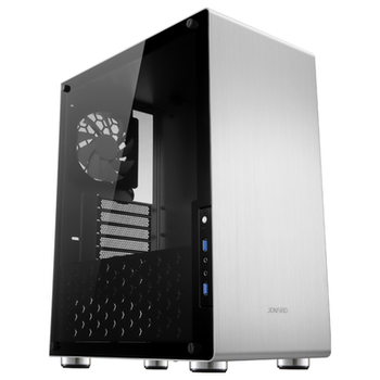 Product image of Jonsbo U4 Silver ATX Case w/Tempered Glass Side Panel - Click for product page of Jonsbo U4 Silver ATX Case w/Tempered Glass Side Panel