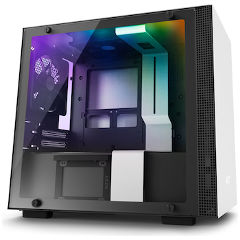 Product image of NZXT H200i Matte White Smart mITX Gaming Case - Click for product page of NZXT H200i Matte White Smart mITX Gaming Case