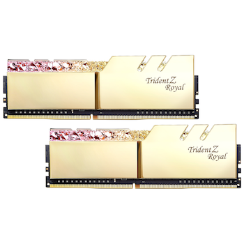 Product image of G.Skill 16GB Kit (2x8GB) DDR4 Trident Z Royal Gold RGB C18 3600Mhz - Click for product page of G.Skill 16GB Kit (2x8GB) DDR4 Trident Z Royal Gold RGB C18 3600Mhz