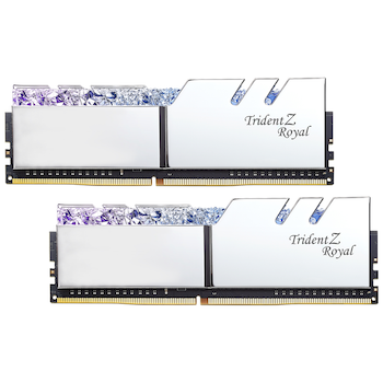 Product image of G.Skill 16GB Kit (2x8GB) DDR4 Trident Z Royal Silver RGB C18 3600Mhz - Click for product page of G.Skill 16GB Kit (2x8GB) DDR4 Trident Z Royal Silver RGB C18 3600Mhz