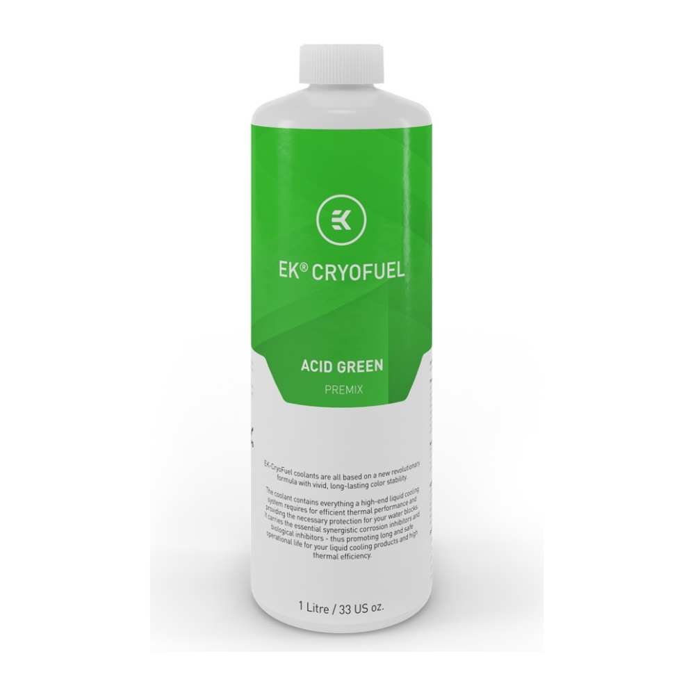 A large main feature product image of EK CryoFuel Acid Green 1L Premix Coolant
