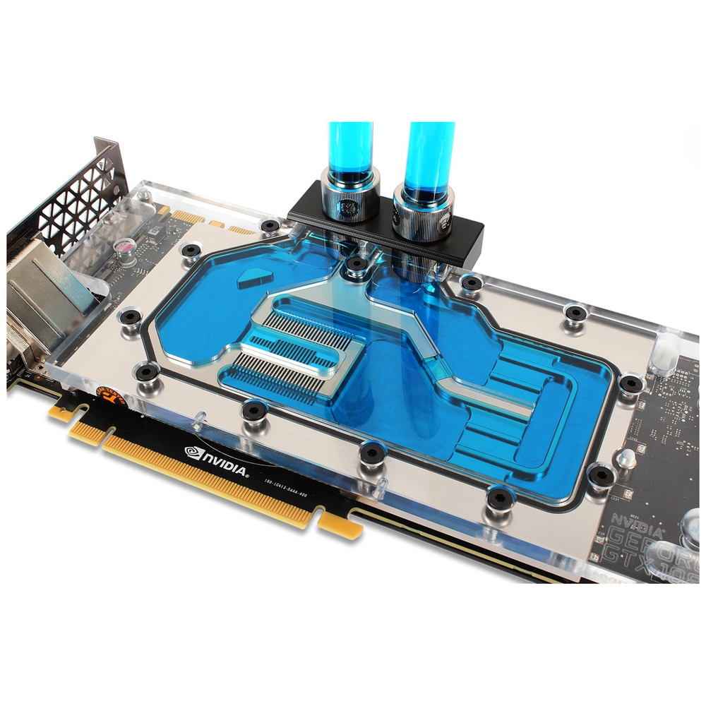 A large main feature product image of EK CryoFuel Navy Blue 1L Premix Coolant