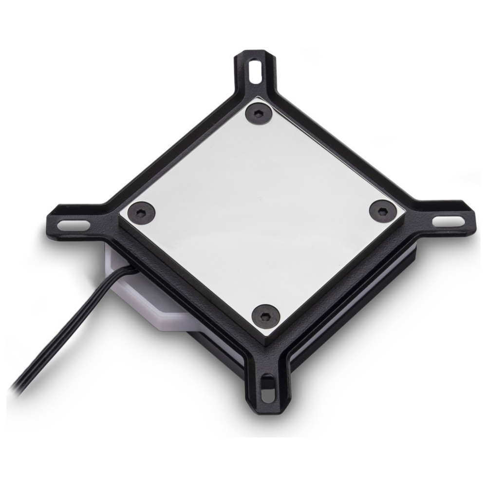 A large main feature product image of EK Velocity Addressable D-RGB Intel Nickel Acetal CPU Waterblock