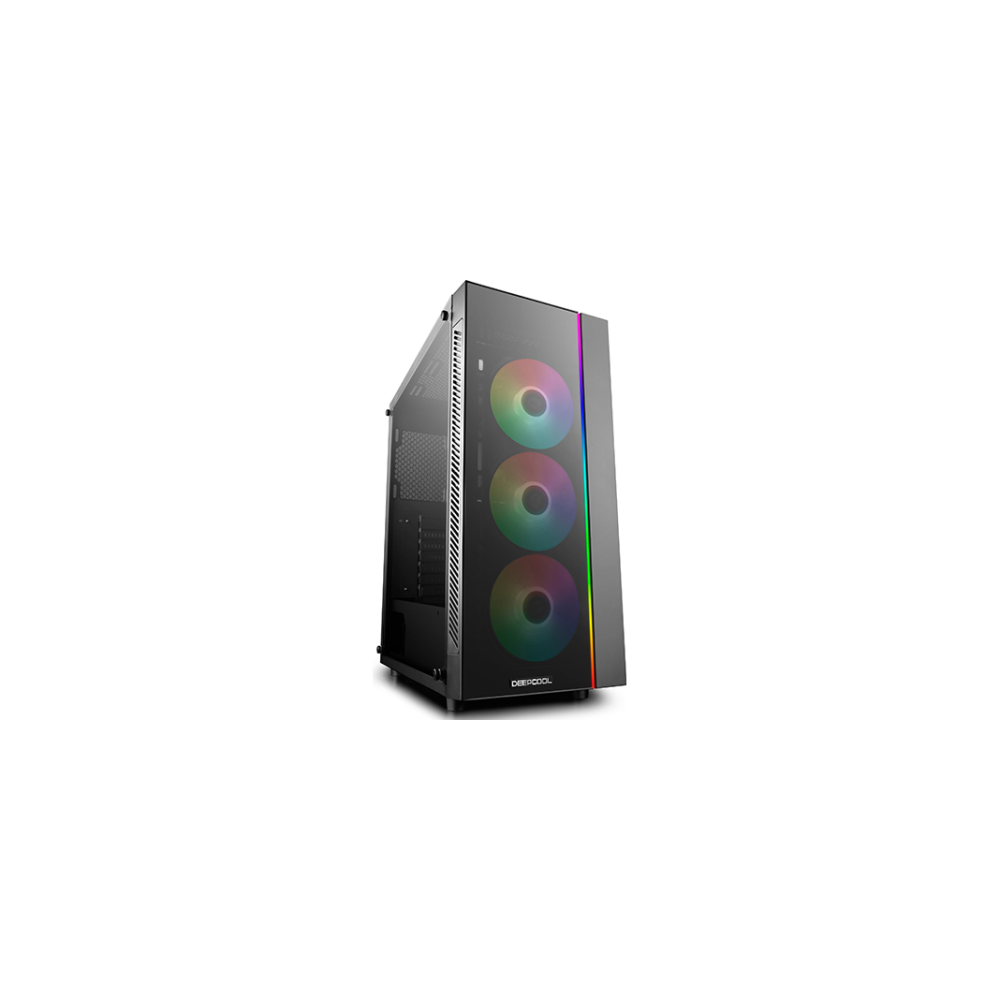 A large main feature product image of Deepcool Matrexx 55 Addressable RGB 3F Mid Tower Case w/ Tempered Glass Side Panel