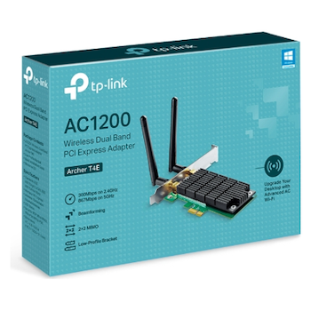 Product image of TP-LINK T4E AC1200 Wireless Dual Band PCIe Adapter - Click for product page of TP-LINK T4E AC1200 Wireless Dual Band PCIe Adapter