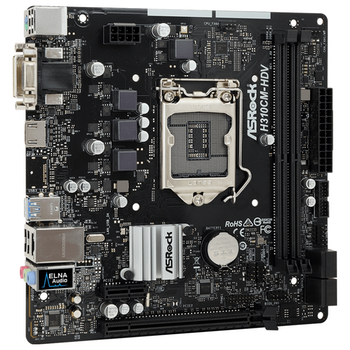 Product image of ASRock H310CM-HDV LGA1151-CL mATX Desktop Motherboard - Click for product page of ASRock H310CM-HDV LGA1151-CL mATX Desktop Motherboard