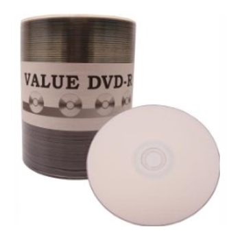 Product image of Ritek DVD-R 16x 100 Pack Printable - Click for product page of Ritek DVD-R 16x 100 Pack Printable