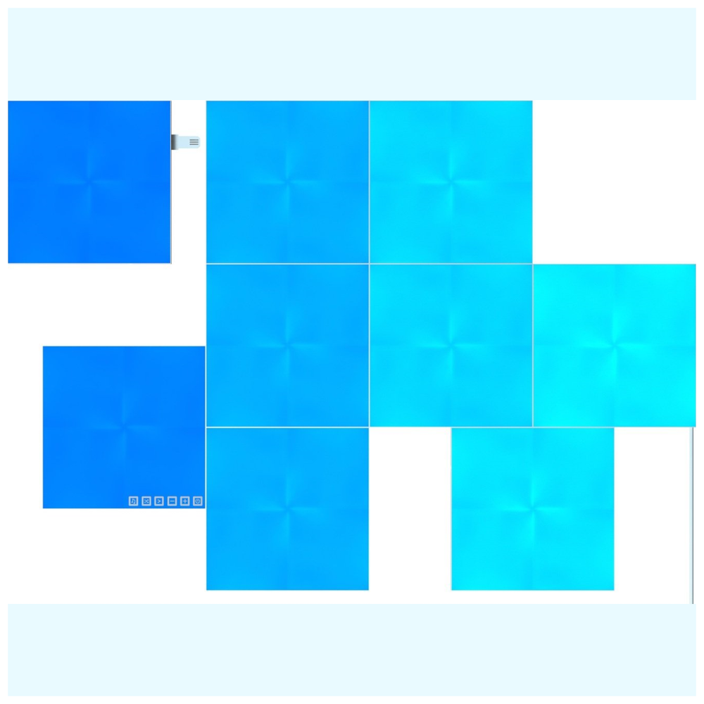 A large main feature product image of NANOLEAF Canvas Smarter Kit (9 Pack)