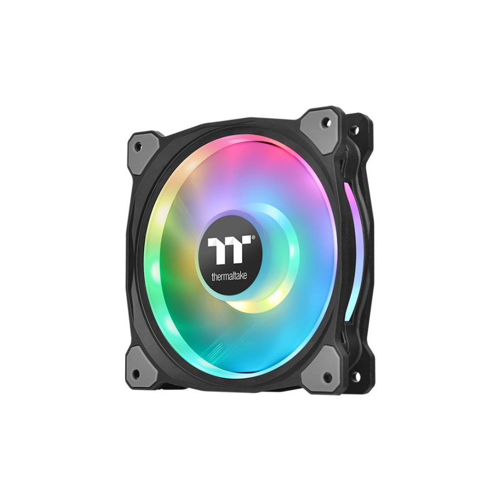 A large main feature product image of Thermaltake Riing Duo 12 120mm RGB TT Premium Edition SP Fans (3-pack)
