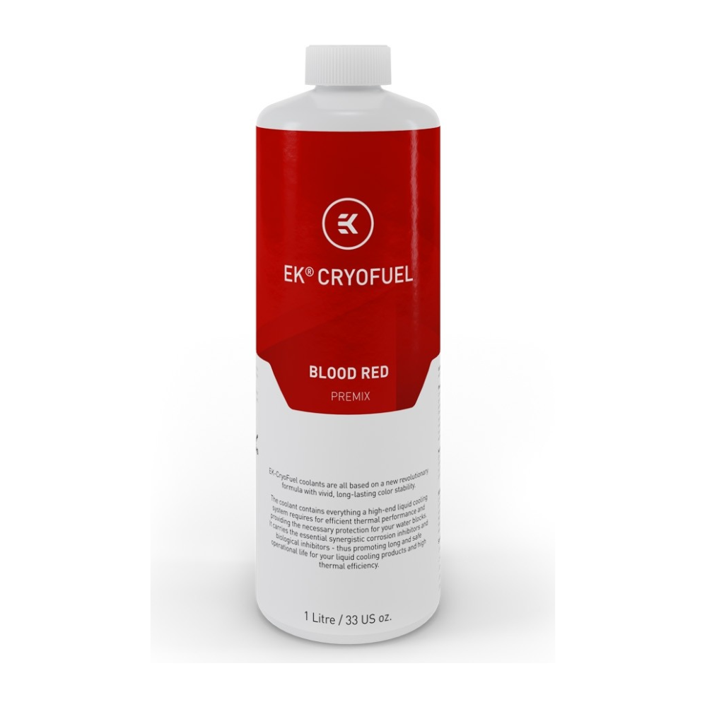 A large main feature product image of EK CryoFuel Blood Red 1L Premix Coolant