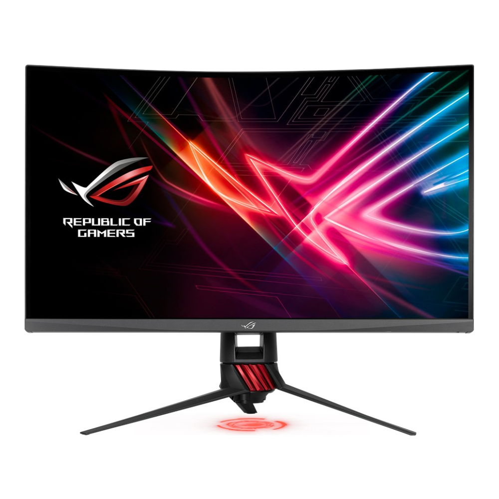 "A large main feature product image of ASUS ROG Strix XG32VQR 32"" WQHD FreeSync 2 Curved 144Hz HDR400 4MS VA LED Gaming Monitor"