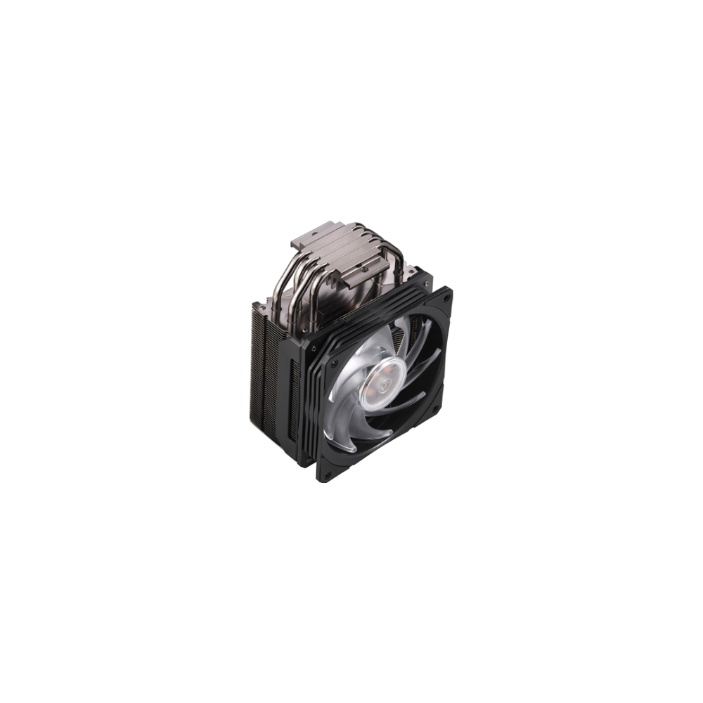 A large main feature product image of Cooler Master Hyper 212 RGB Black Edition CPU Cooler