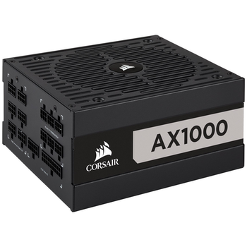 Product image of Corsair AX1000 1000W 80PLUS Titanium Modular Power Supply - Click for product page of Corsair AX1000 1000W 80PLUS Titanium Modular Power Supply