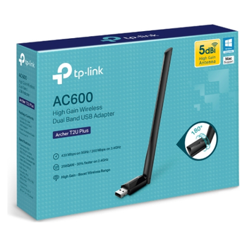 Product image of TP-LINK Archer T2U Plus 802.11ac AC600 Wireless Dual Band USB Adapter - Click for product page of TP-LINK Archer T2U Plus 802.11ac AC600 Wireless Dual Band USB Adapter