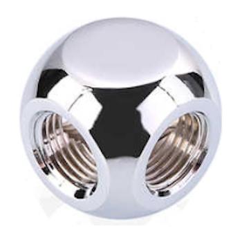 Product image of Bykski G1/4 4 Way Fitting - Polished Silver - Click for product page of Bykski G1/4 4 Way Fitting - Polished Silver