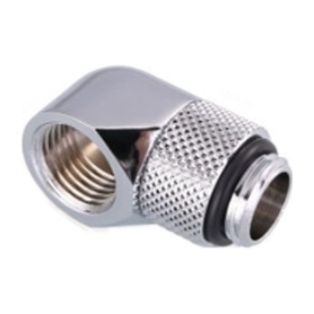 Product image of Bykski G1/4 90 Degree Rotary Extender - Polished Silver - Click for product page of Bykski G1/4 90 Degree Rotary Extender - Polished Silver