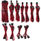 A small tile product image of Corsair Premium Individually Sleeved Pro Cables Kit Type 4 Gen 4 - Red/Black