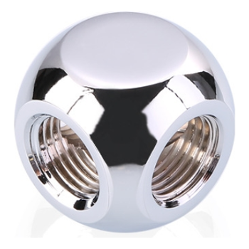 Product image of Bykski G1/4 T Fitting - Polished Silver - Click for product page of Bykski G1/4 T Fitting - Polished Silver