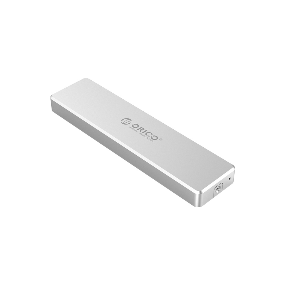 A large main feature product image of ORICO Mini Push-Open NVMe M.2 SSD Type-C Enclosure