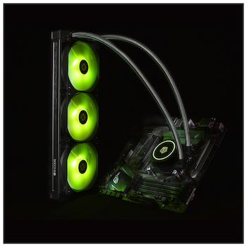 ID-COOLING AuraFlow X 360 RGB AIO CPU Liquid Cooler