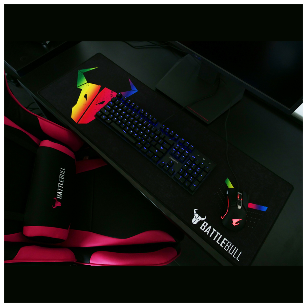 A large main feature product image of BattleBull Combat Gaming Chair Black/Pink