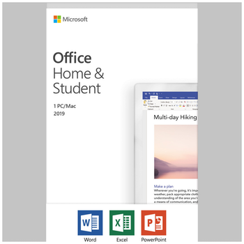 Product image of Microsoft Office 2019 Home and Student 1 User, 1 Device PC/Mac Retail PKC - Click for product page of Microsoft Office 2019 Home and Student 1 User, 1 Device PC/Mac Retail PKC