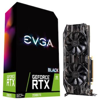 Product image of eVGA GeForce RTX2080Ti BLACK, 11GB GDDR6, Dual HDB Fans & RGB LED - Click for product page of eVGA GeForce RTX2080Ti BLACK, 11GB GDDR6, Dual HDB Fans & RGB LED