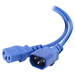 ALOGIC 0.5m IEC C13 to IEC C14 Computer Power Extension Cord Male to Female Blue