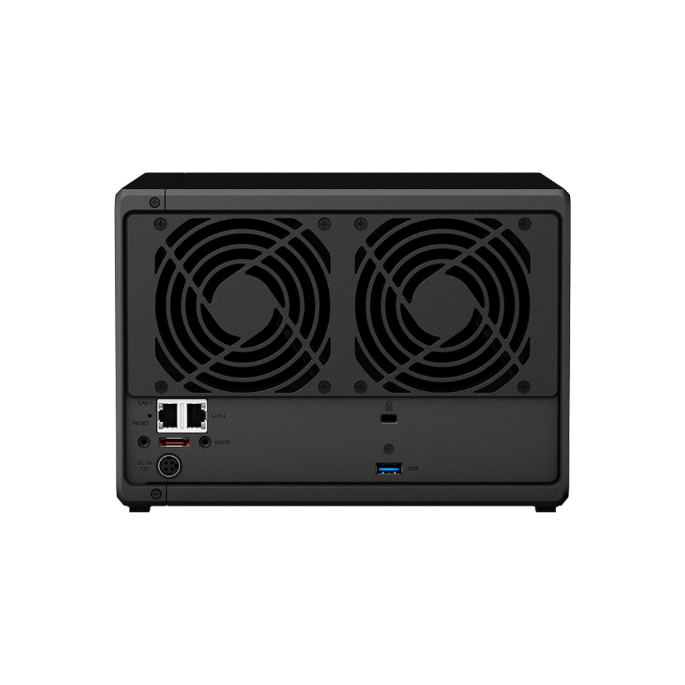 A large main feature product image of Synology DS1019+ Quad Core 1.4Ghz 5 Bay NAS Enclosure