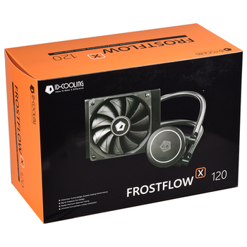 Product image of ID-COOLING FrostFlow X 120 White LED AIO CPU Liquid Cooler - Click for product page of ID-COOLING FrostFlow X 120 White LED AIO CPU Liquid Cooler