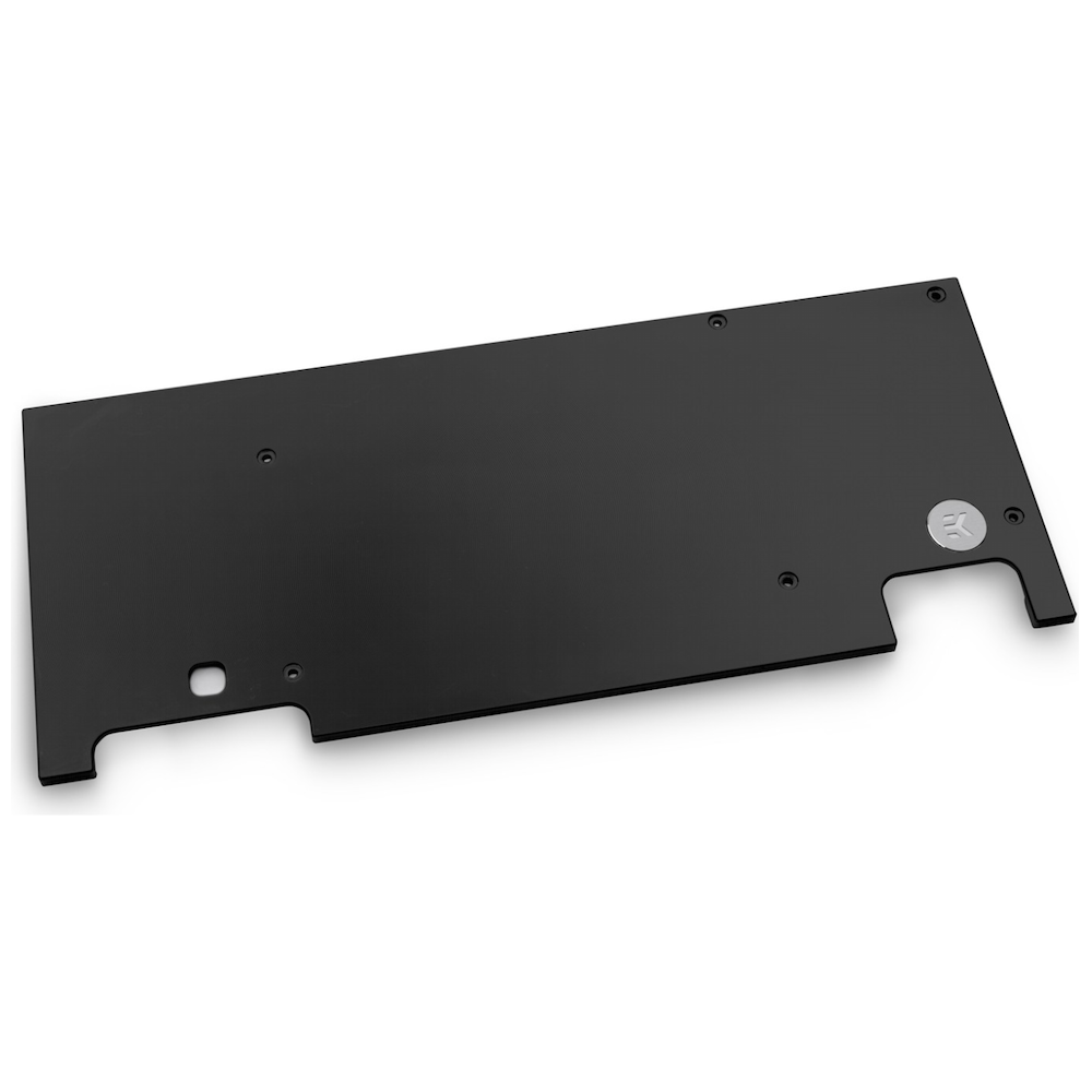 A large main feature product image of EK Vector Strix RTX 2080 Backplate - Black